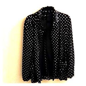 Luna jacket black velvet